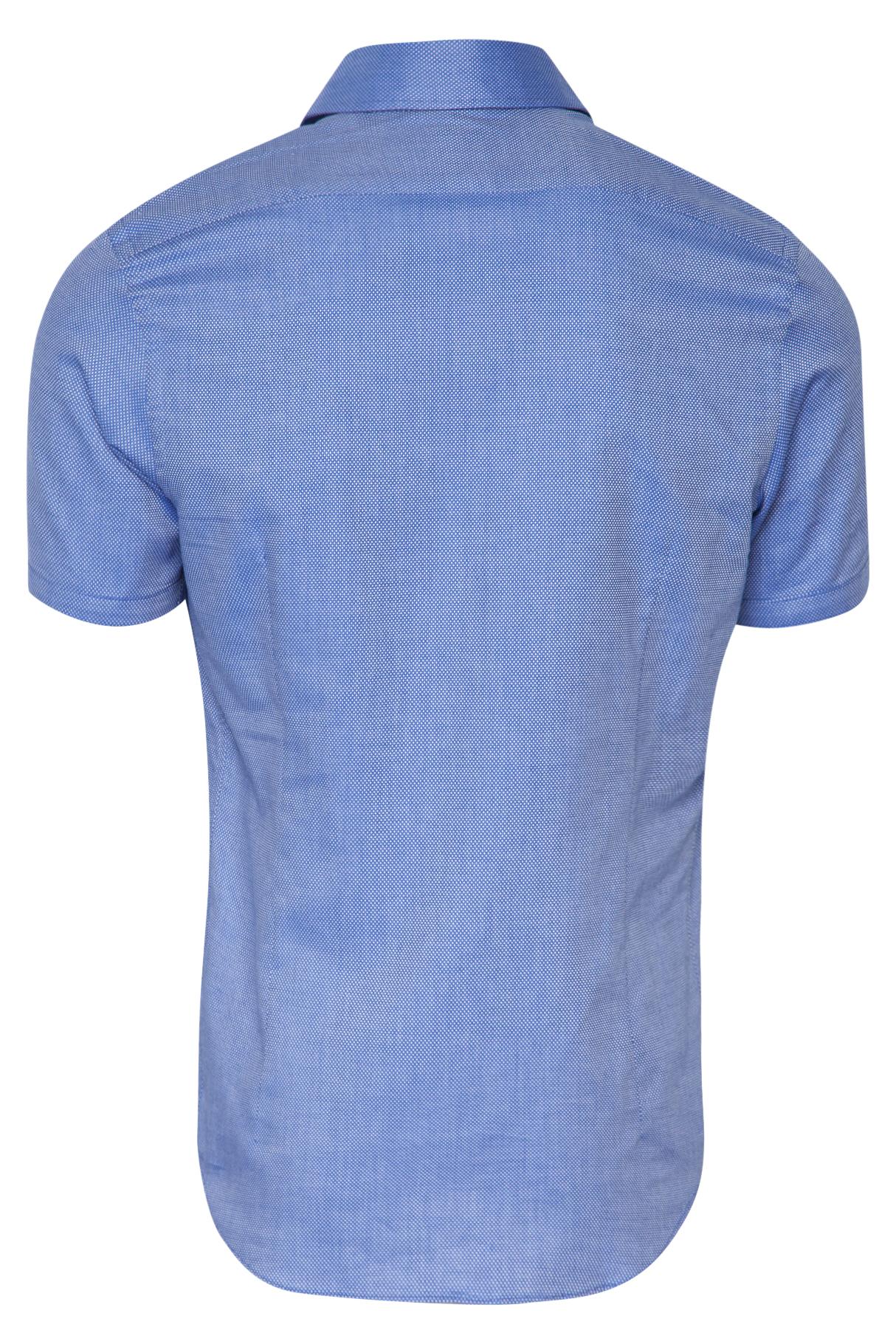 Het Overhemd.Sportique Zeewolde Heren Blauw Heren Overhemd Korte Mouw Blue