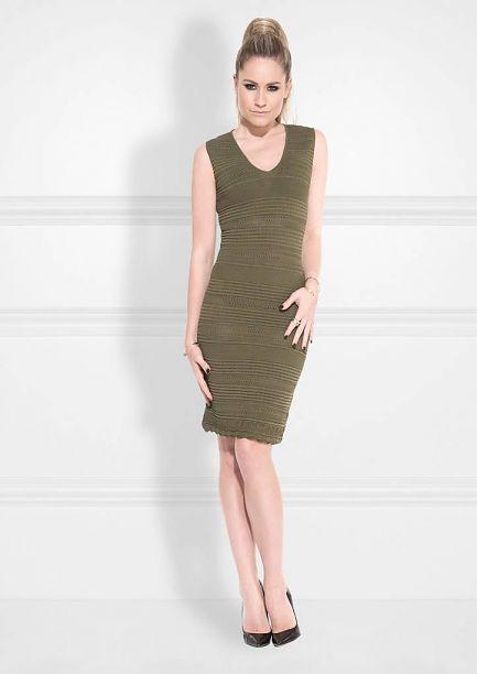 Groene jurk combineren