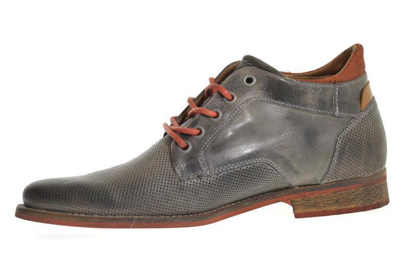 416c57ecf05 De 0100 grey van Brunotti is een mooi afgewerkte Halfhoge veterschoenen in  de kleur grijs.