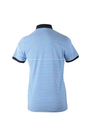 be6ae6f5758 Sportique Zeewolde :: HEREN :: Blauw wit gestreepte heren polo Blue ...