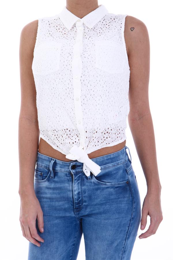 witte blouse top