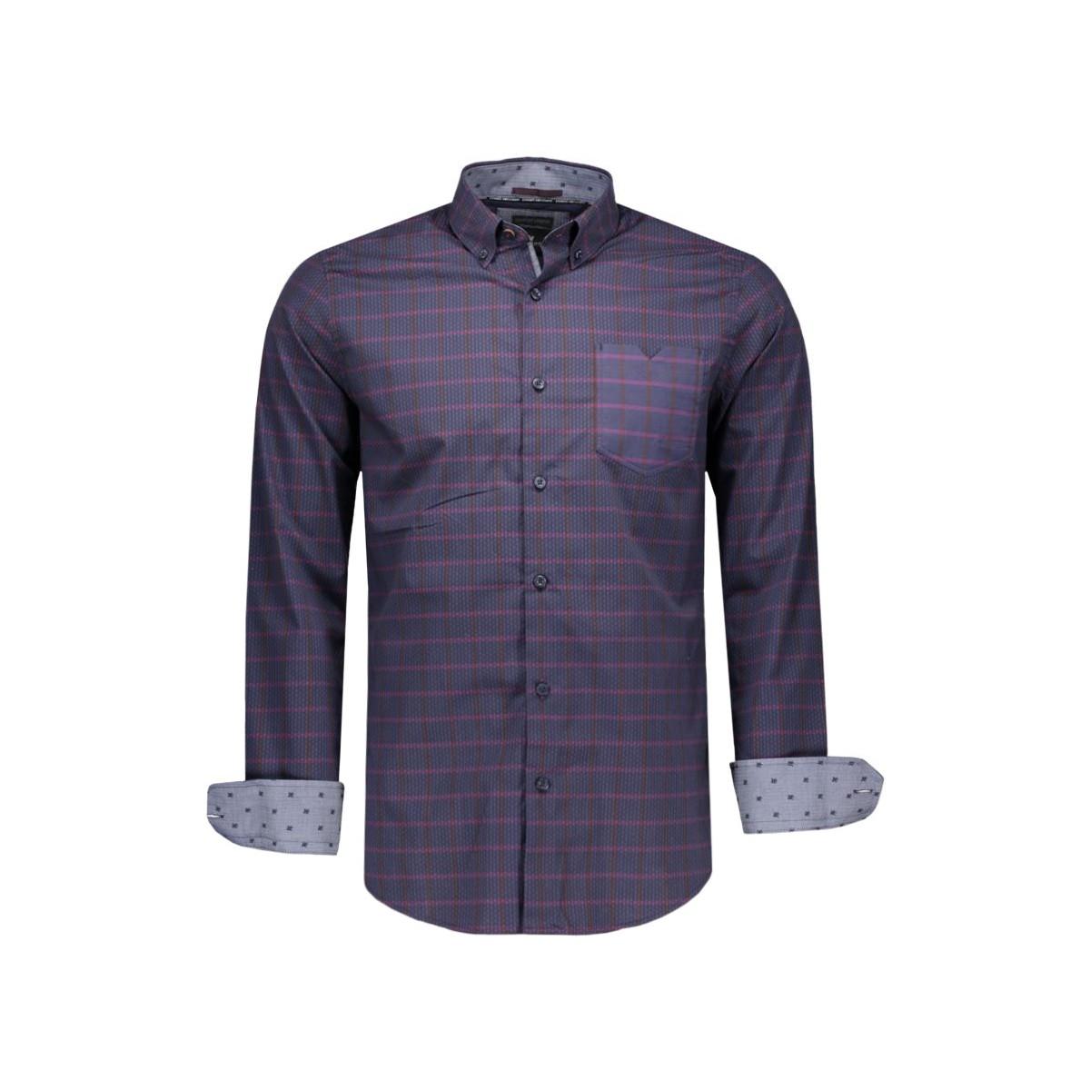 Donkerblauw Heren Overhemd.Sportique Zeewolde Heren Donkerblauw Heren Overhemd Vanguard