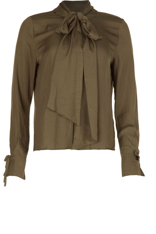 groene blouse met strik