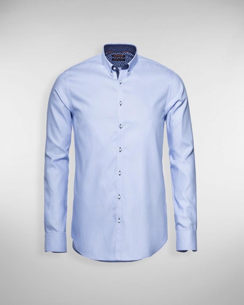 Sportique Zeewolde :: HEREN :: Blauw heren overhemd Blue
