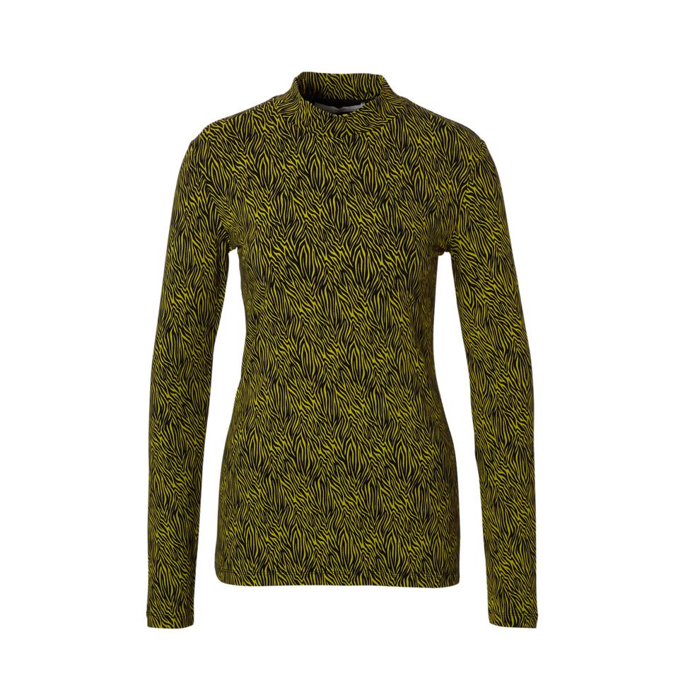 Sportique Zeewolde :: DAMES :: Zwarte dames trui met gele