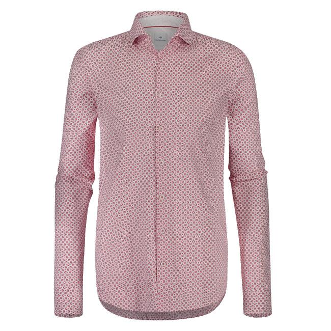 Rood Heren Overhemd.Sportique Zeewolde Heren Wit Rood Geprint Heren Overhemd Blue