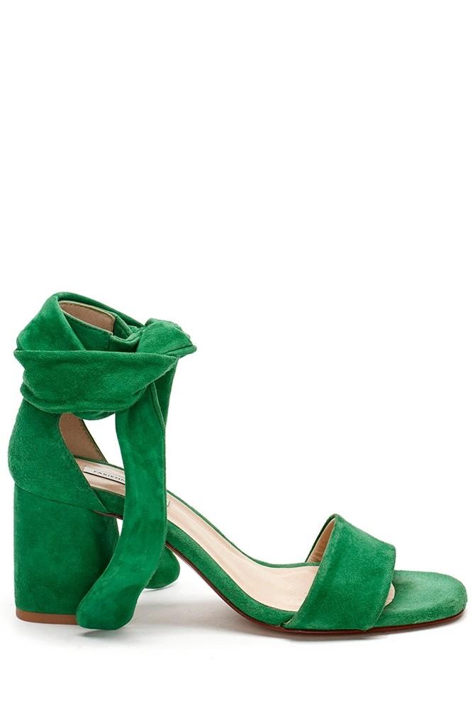 sportique zeewolde dames groene dames sandaal met hak