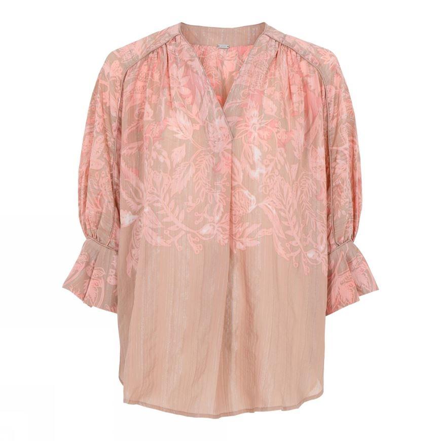 Roze geprinte blouse - Gustav - 7367-0-6023