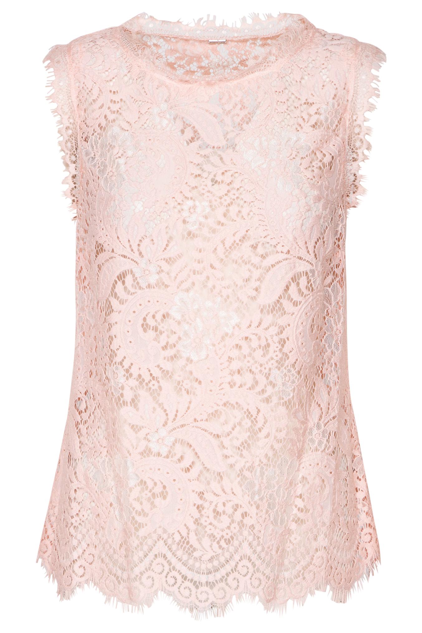 Roze kanten dames top Gustav - 10742-23601