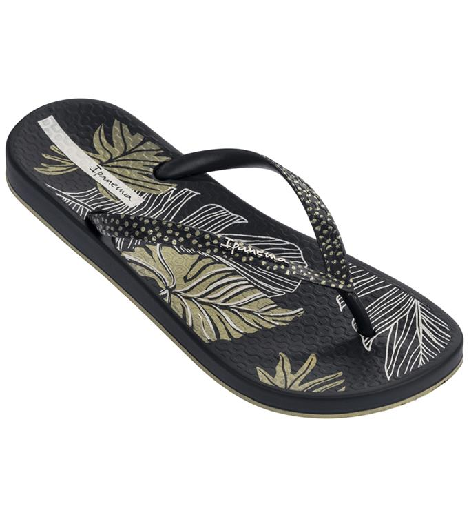 Zwarte dames slipper met print Ipanema Anatomic Nature - IP82762-20138