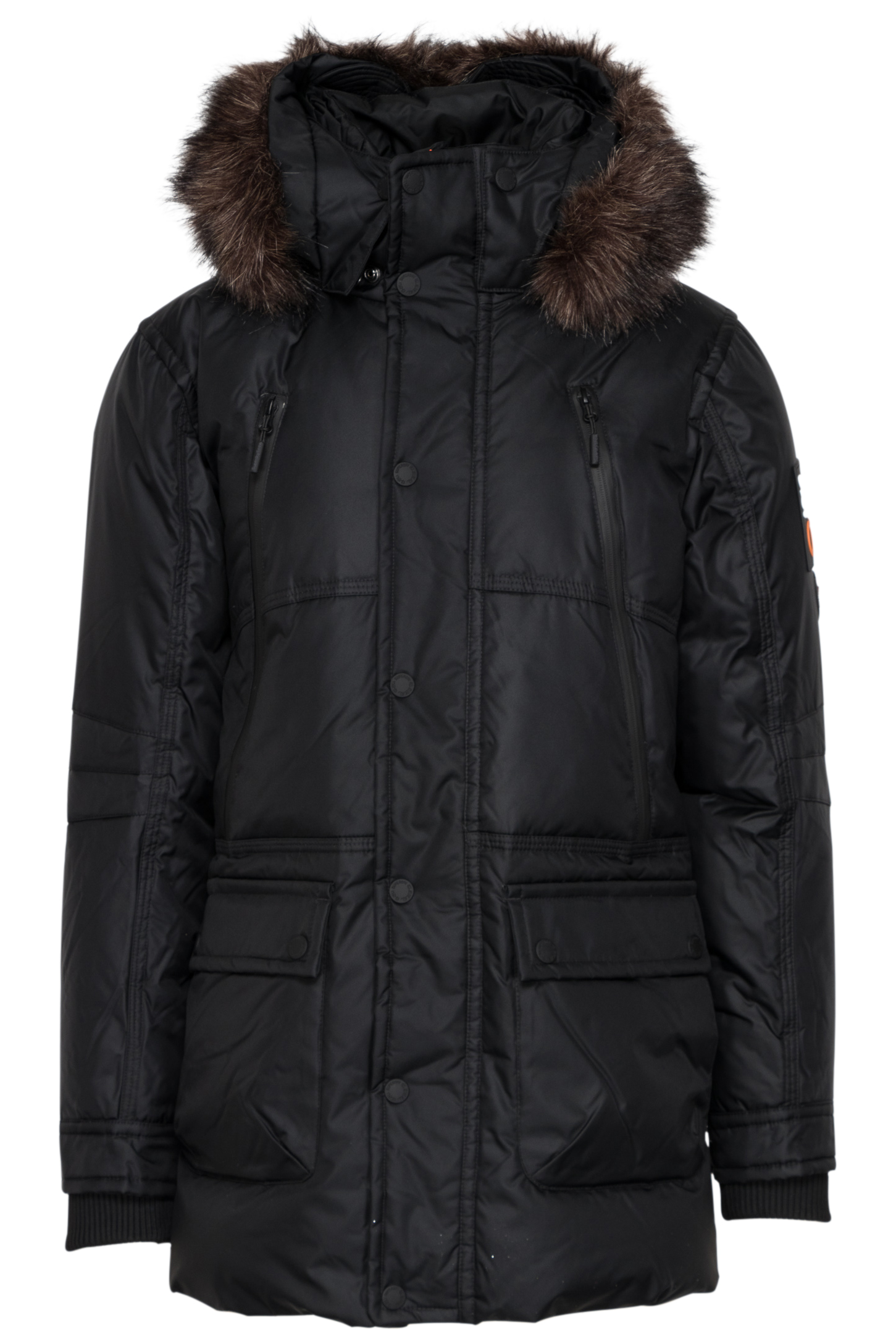 Zwarte heren ski/winter parka Superdry - M50001GP