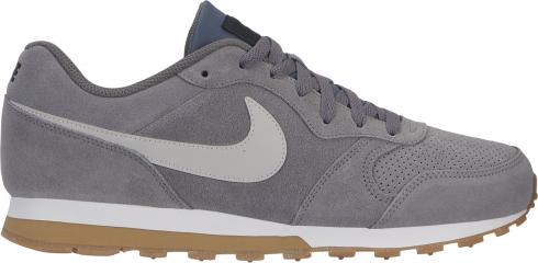 Lichtgrijze Heren Schoenen Nike MD Runner 2 Suede -  AQ9211 002