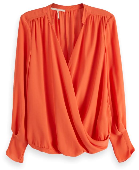 Oranje dames blouse Maison Scotch - 149764 - 0406
