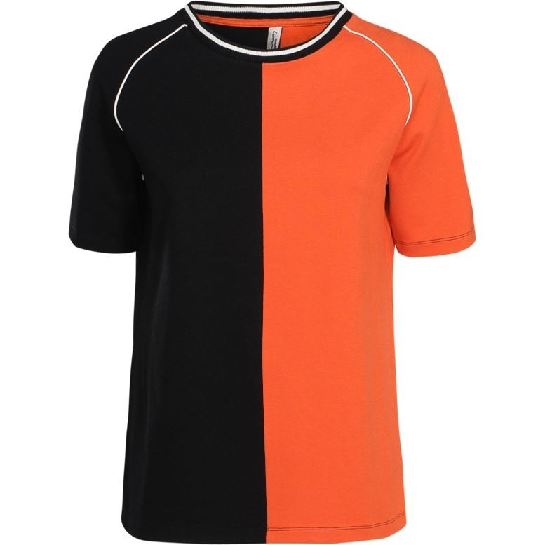 Zwart/Oranje dames Top Summum 3s4225-30019 - 990