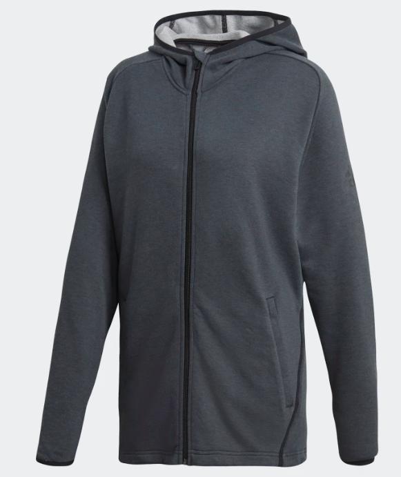 Zwarte heren hoodie Adidas - CX0172 - CARBON/BLACK