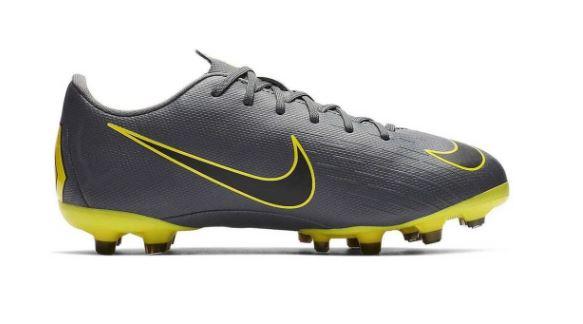 Grijs Gele Voetbalschoen Nike Vapor 12 Academy GS - AH 7347 070