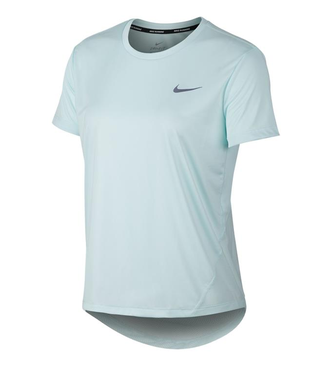 Lichtblauw Dames T-shirt Nike Miler Top SS - AJ8121 336