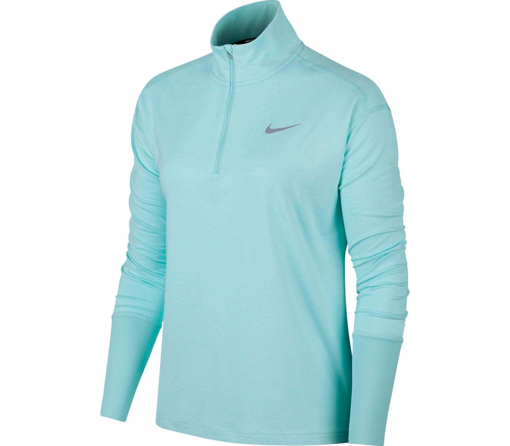 Lichtblauw Dames Shirt met lange Mouw Nike Element Top - AA4631 336