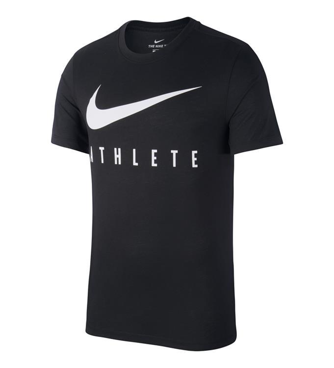 Zwart Heren T-Shirt Nike Dry Tee DB Atlete - BQ7539 010