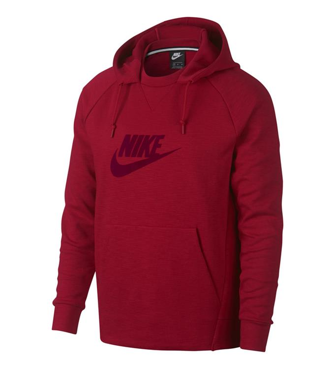 Rode Heren Hoodie Nike SW Optic Po GX - AV8408 687