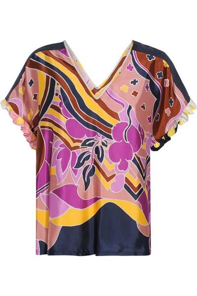 Paars Dames Tshirt Summum - 2s2222 10795