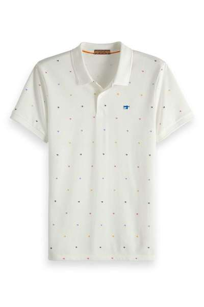 Witte Heren Polo Scotch and Soda - 149077 12003