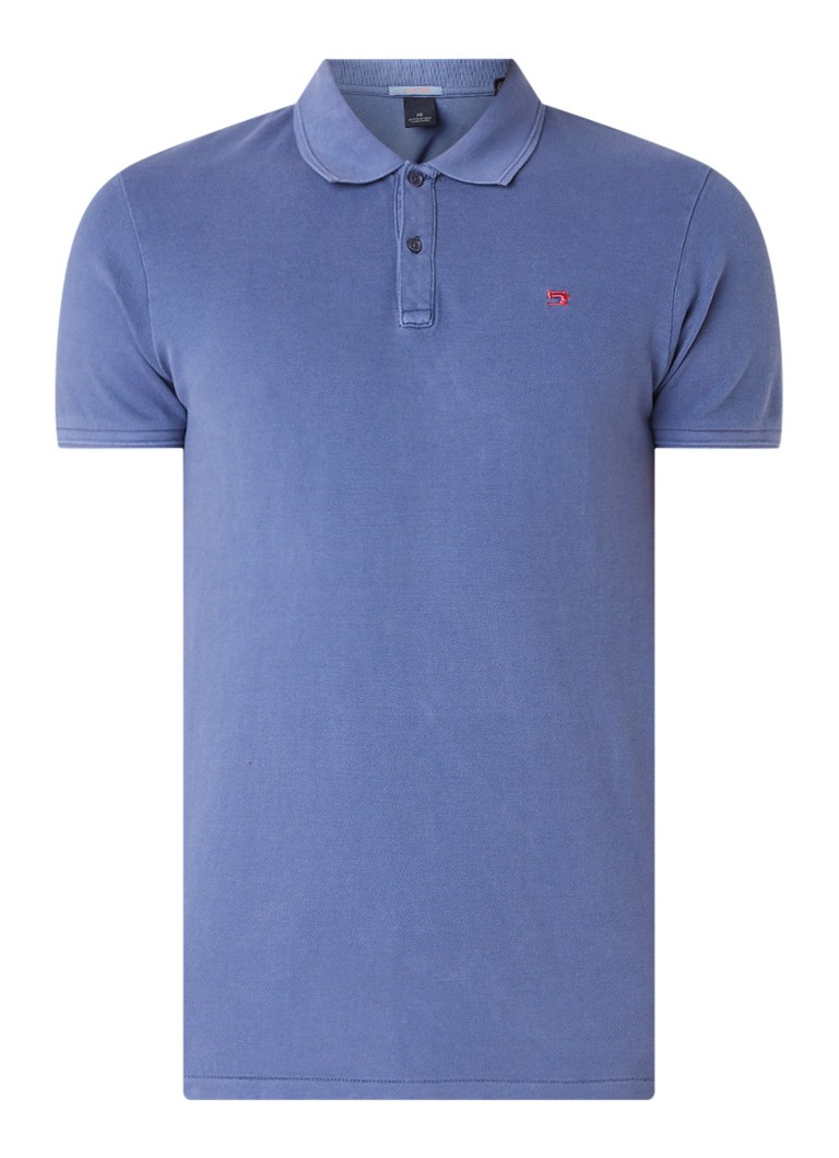 Lichtblauwe Heren Polo Scotch & Soda - 149084 2786