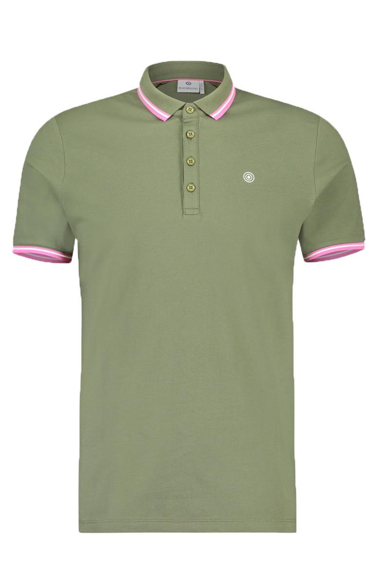 Groene Heren Polo Blue industry - KBIS19-M21
