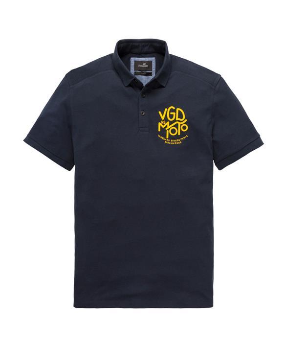 Donkerblauwe Heren Polo Vanguard - VPSS192629 5287