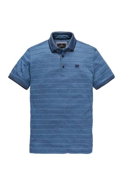 Blauwe Heren Polo Vanguard - VPSS192628 5028