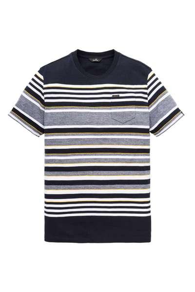 Blauw Gestreept Heren Tshirt Vanguard - VTSS192650 5286