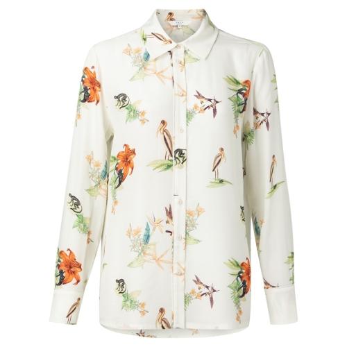 Witte Dames Blouse Met Print YAYA - 110167-913 243021