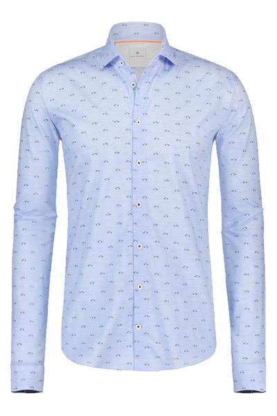Blauw heren overhemd met print Blue Industry - 1222.91