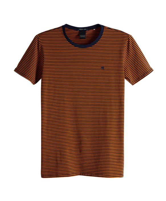 Orange heren t-shirt Scotch & Soda - 149001