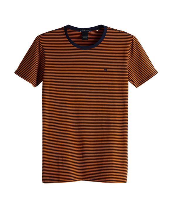 Orange heren t-shirt Scotch & Soda - 149001