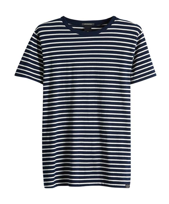 Blauw heren t-shirt Scotch & Soda - 149002 0217