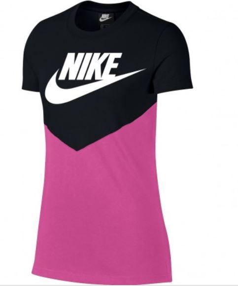 Zwart roze dames shirt Nike Heritage Top - BQ9555 010