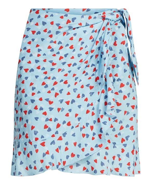Blauwe dames rok met hartjes print Fabienne Chapot - Kea Skirt