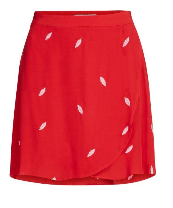 Rode dames rok met print Fabienne Chapot - Eyeland Skirt