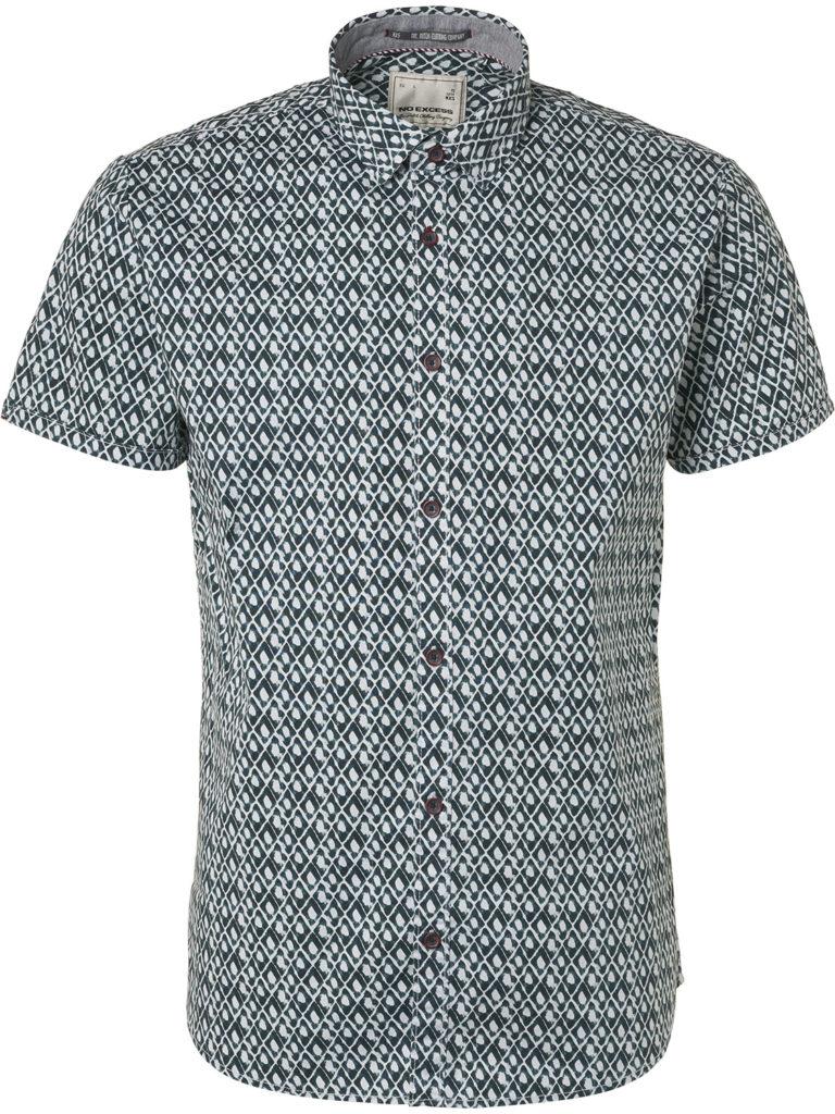 Groene heren blouse met print No Excess - 90460304 157