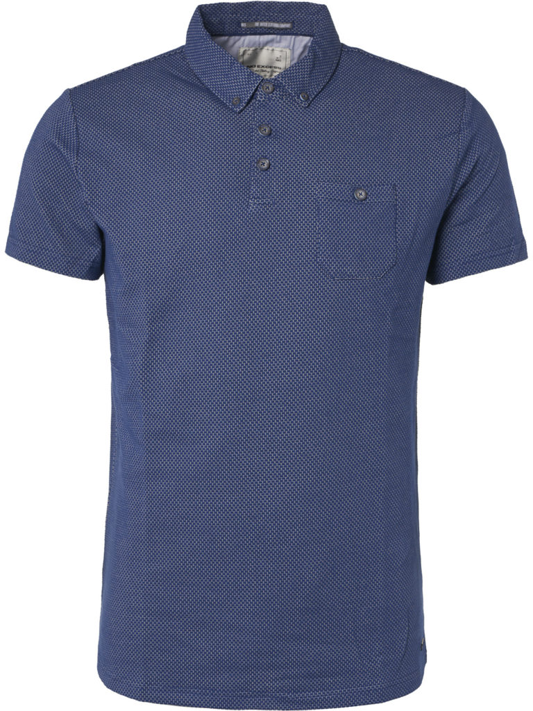 Blauwe heren polo No Excess - 90370302 136