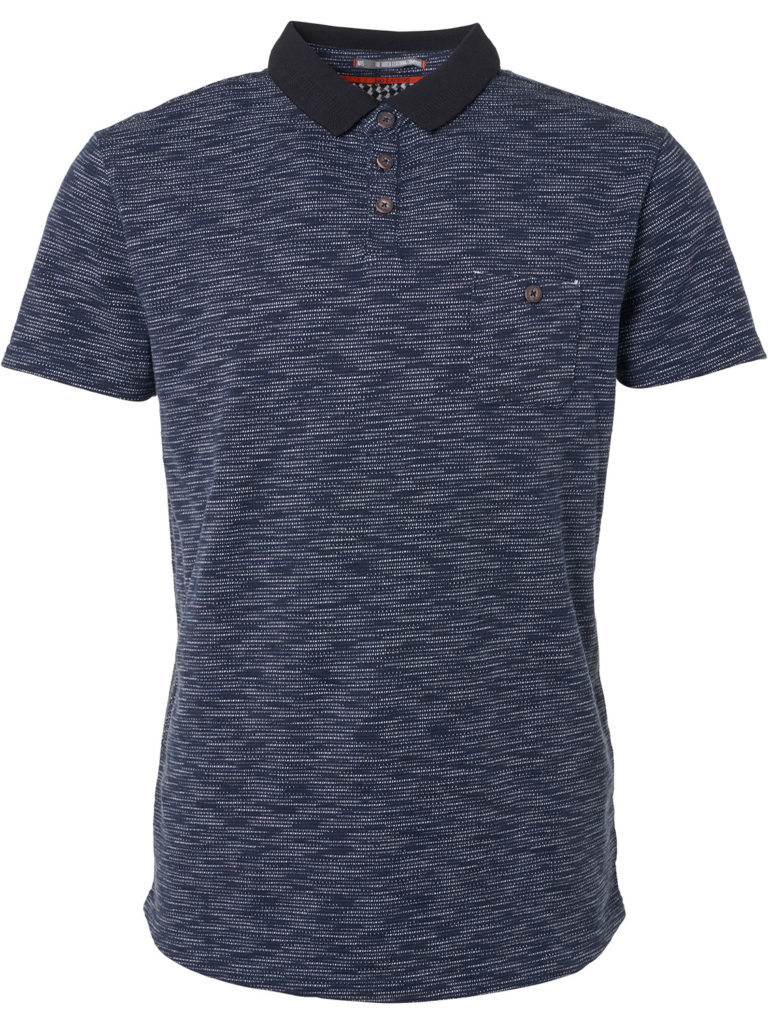 Donkerblauwe heren polo No Excess - 90370208 078