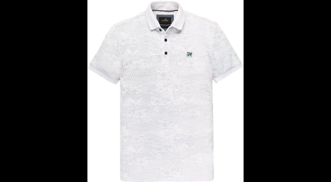 Witte heren polo met lijnen print Vanguard - VPSS193674