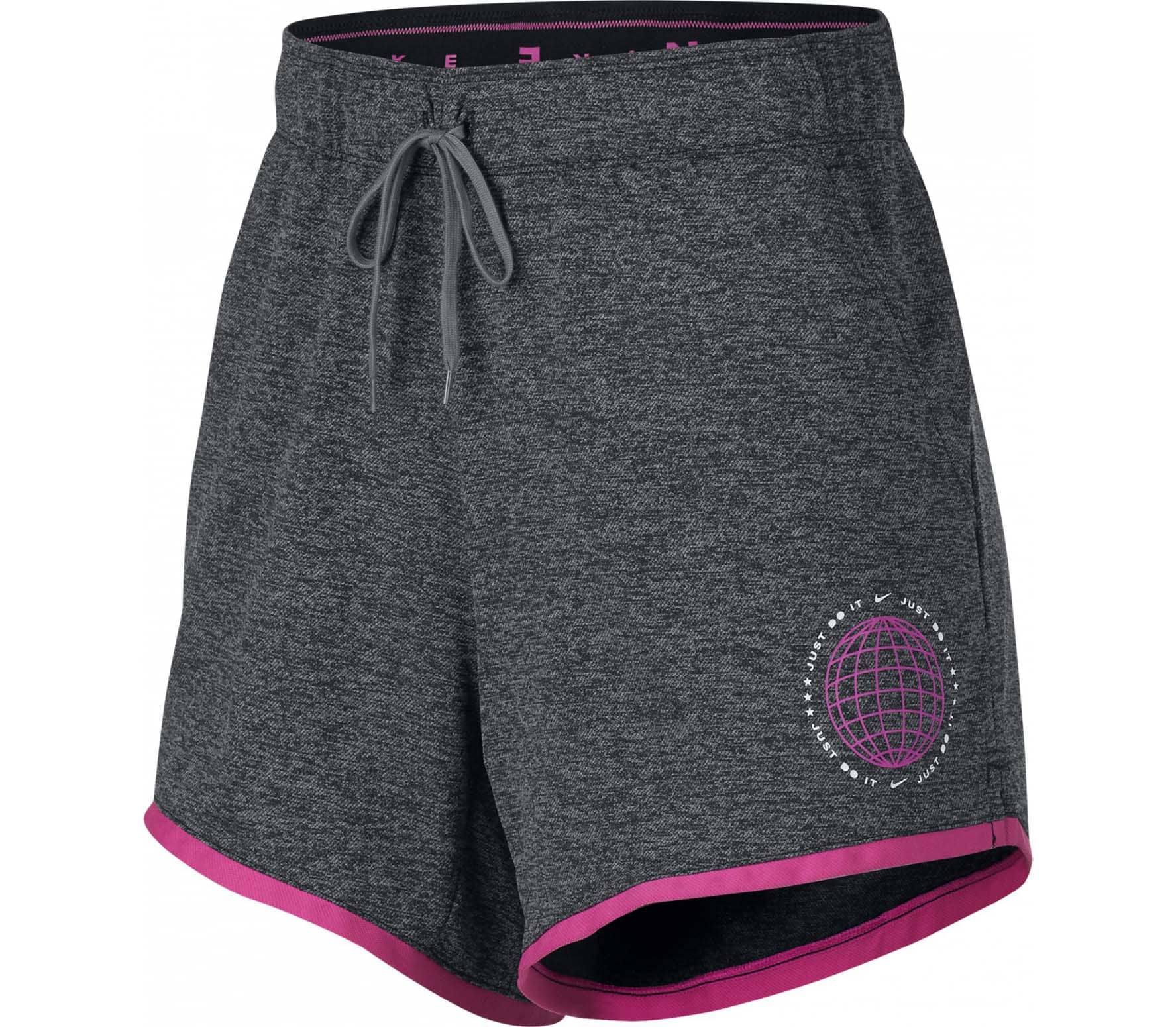 Grijs roze dames short Nike Dri-Fit - BQ7152 010
