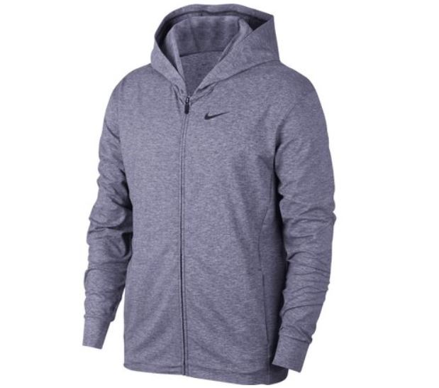 Blauw heren vest Nike Dry hoodie - BQ2864 410