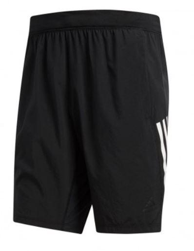 Zwarte heren short met witte strepen Adidas - DQ2860