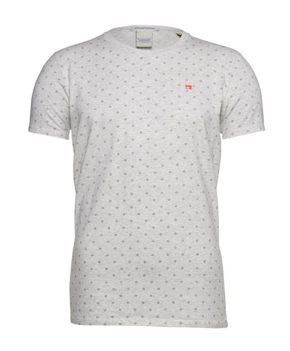 Grijs heren t-shirt met print Scotch and Soda - 149001 82003