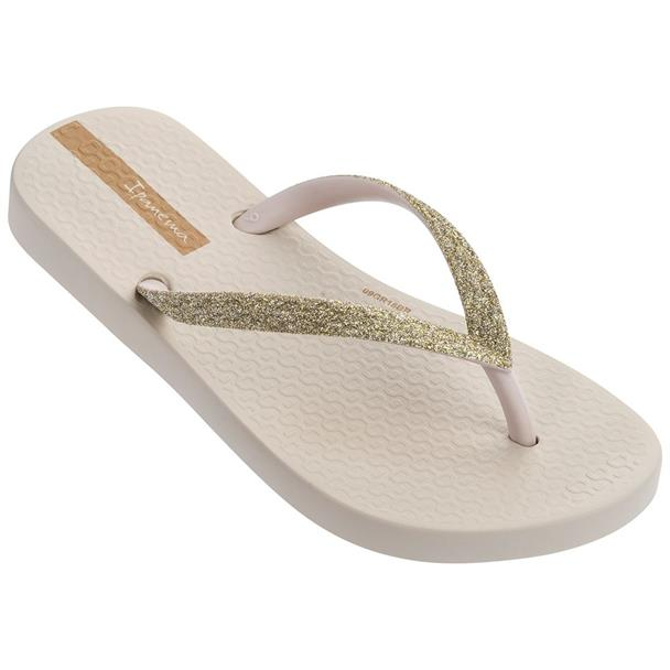 Beige dames slipper met glitterbandje Ipanema- IP81739