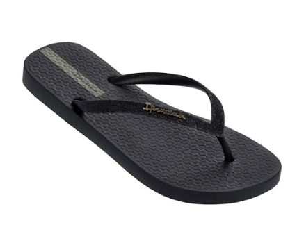 Zwarte dames slipper met glitterbandje Ipanema - IP81739