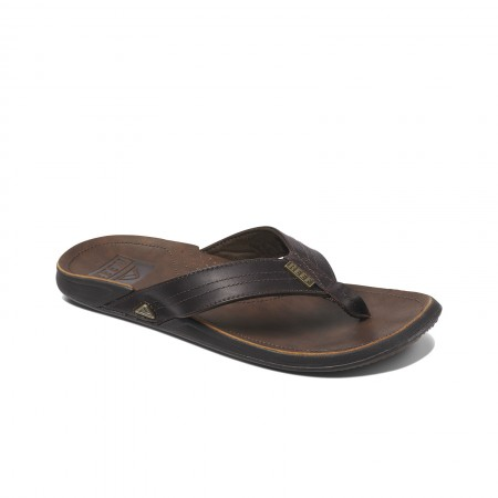 Donkerbruine heren slipper Reef J-Bay - RF002616DB21 DBA